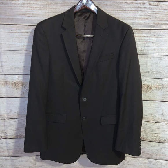 Kenneth Cole Select 40L Brown Suit Jacket